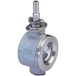 Válvula de bola segmentada en acero inoxidable, tipo wafer, baja y media presión, accionamiento manual o con actuador eléctrico o neumático, HÖGFORS Series 465 DIN EN
