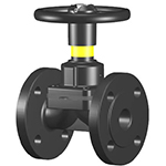 Diaphragm valves, weir type, lined or unlined, manual or with actuator DIAVAL W
