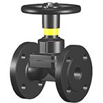 Válvulas de diafragma paso ondulado, con o sin revestimiento, manuales o con actuador DIAVAL W