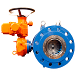 Plunger control valves with electric, hydraulic or pneumatic actuator