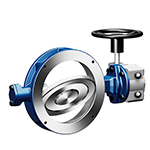 Double eccentric butterfly valves manual and motorized actuation, ARI ZEDOX®